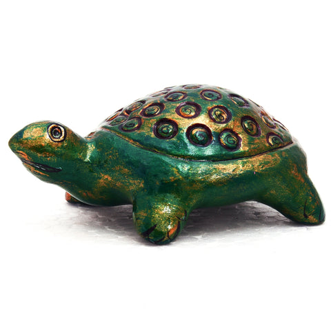 Good luck Paper Mache Turtle - feng shui  wish fulfilling turtle