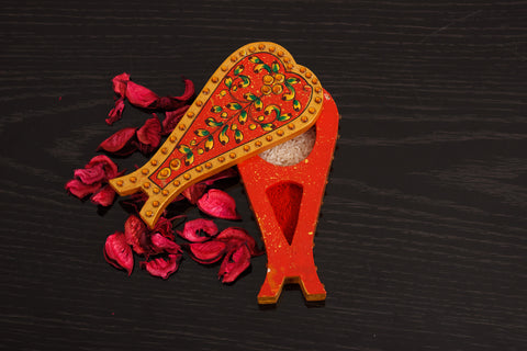 Haldi Kumkum (CHOPDA): Conck Shape Orange