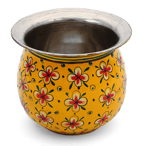 Stainless Steel kalash - yellow
