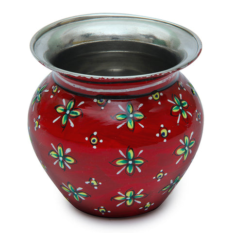 Stainless steel kalash - Red