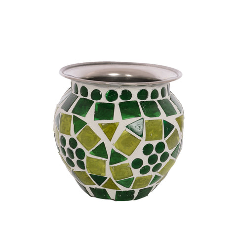 Mosaic Kalash: GREEN