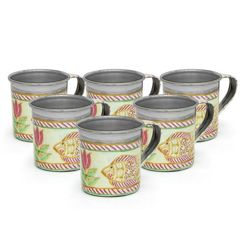 KAUSHALAM TEA CUPS SET OF 6: Fish