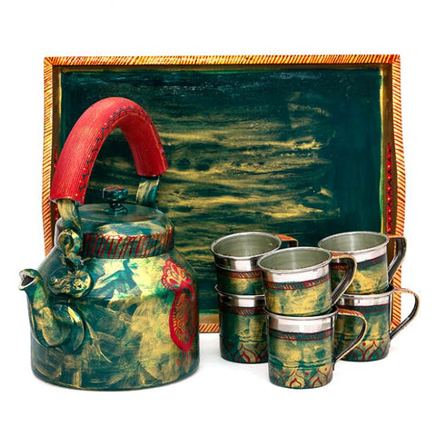 KAUSHALAM TEA SET: GREEN GLAMOUR