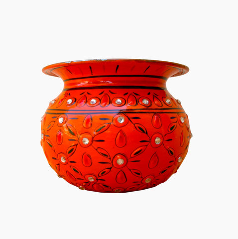 Crystal Kalash - Orange, Vase, Sugar Pot