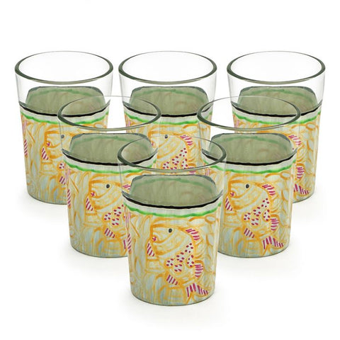 Kaushalam Tea Glass set of 6- Fish