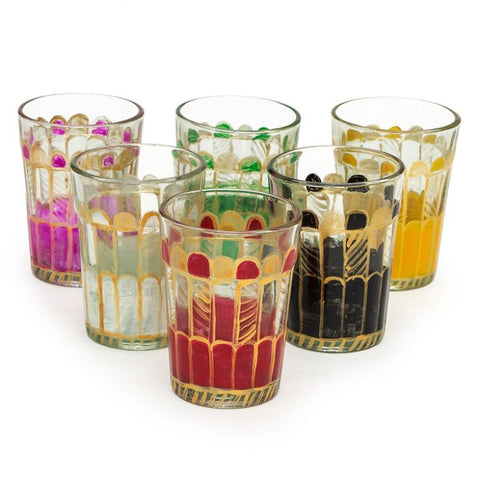 Kaushalam Tea Glass set of 6-Rainbow