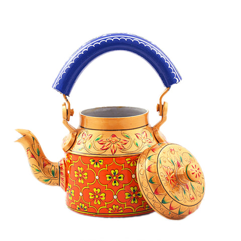 Hand Painted Kettle : Kesariya
