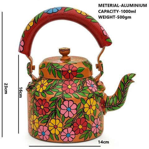 Hand Painted Kettle : Daisy