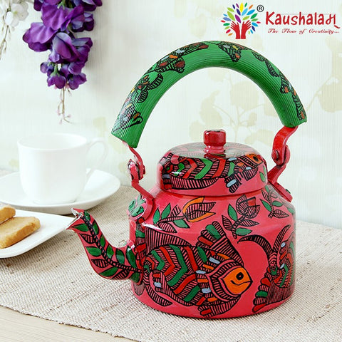 Hand Painted Kettle : Pink Fish