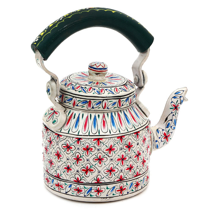 "Hand Painted Tea Kettle : ""Sukoon"""