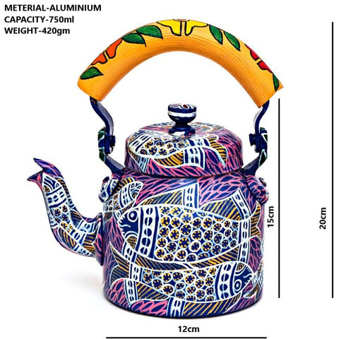 Hand Painted Kettle : Fish Pond