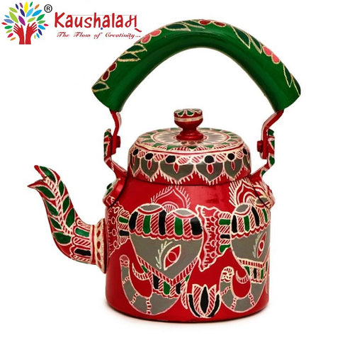 Hand Painted Kettle : Elephant