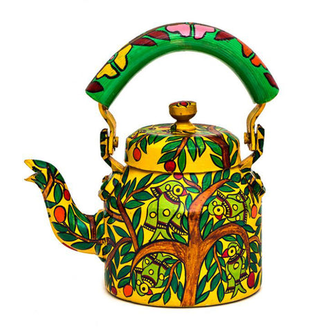 Kaushalam Tea Kettle: Parrots On The Tree