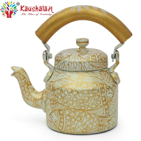 Hand Painted Kettle : Golden Pond