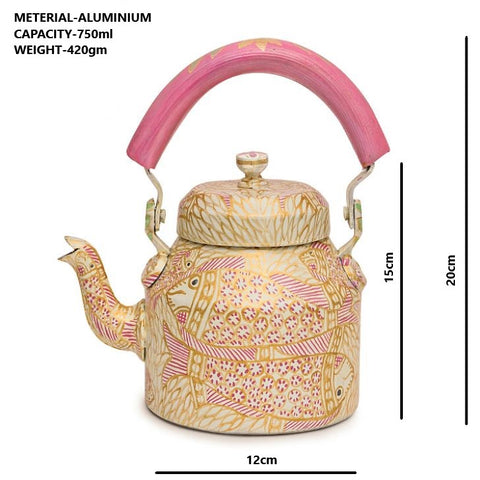 Hand Painted Kettle : Pink Pond