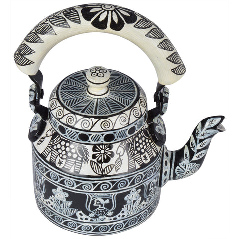 KAUSHALAM TEA KETTLE: B & W