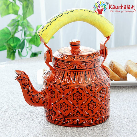 KAUSHALAM TEA KETTLE: ORANGE DELIGHT III