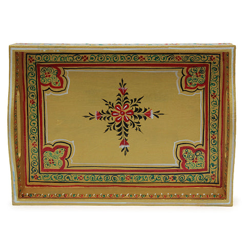 HANDPAINTED TRAY: GOLDEN