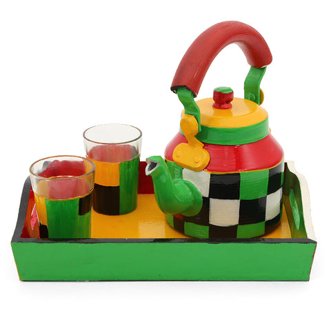 KAUSHALAM TEA SET: CHECKERS