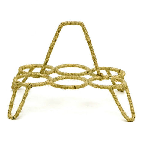 TEA GLASS STAND CHIKA: Yellow