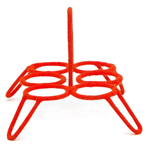 TEA GLASS STAND CHIKA: Red