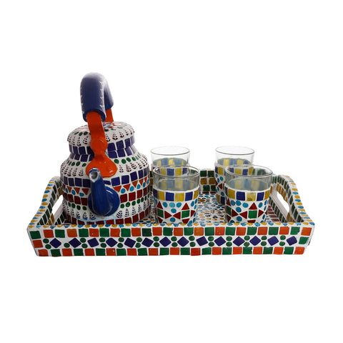 Kaushalam Mosaic Tea Set: Multi
