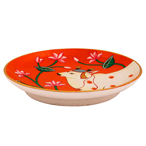 Hand Painted Ceramic Wall Plate : Pichwai