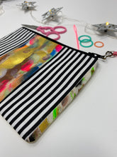 Load image into Gallery viewer, Notion Bag - Black and white stripes