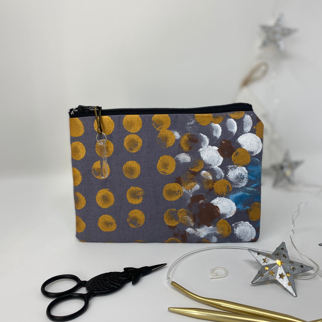 Notion Bag - Grey with gold dots