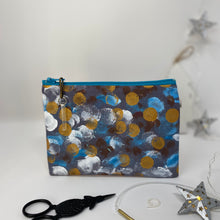 Load image into Gallery viewer, Notion Bag - Gold white and teal dots