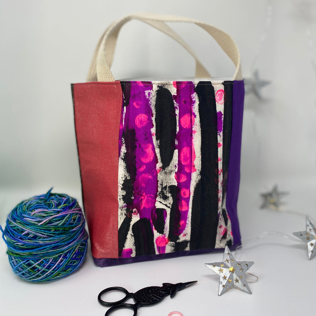 Tote - Mini, Pink and purple