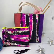 Load image into Gallery viewer, Tote - Mini, Pink and purple