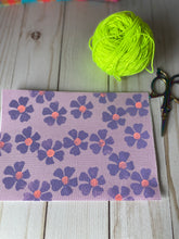 Load image into Gallery viewer, Notion Bag - Tiny lavender flower block print