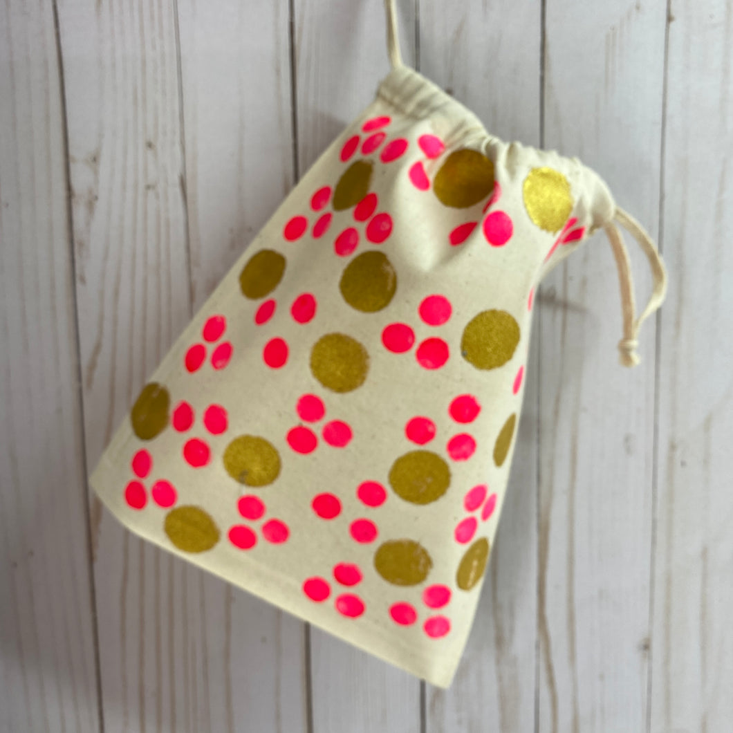 Small canvas drawstring bags, click on image to see design options