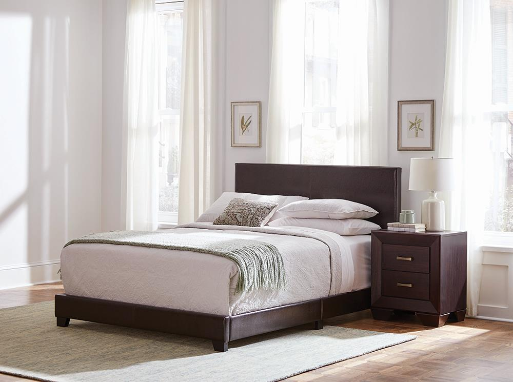 Dorian Bedroom Four Piece Set Brown And Dark Cocoa