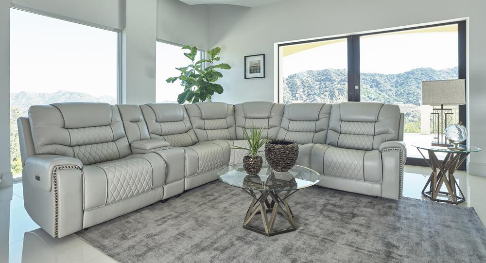 Power Sectional (Light Grey)