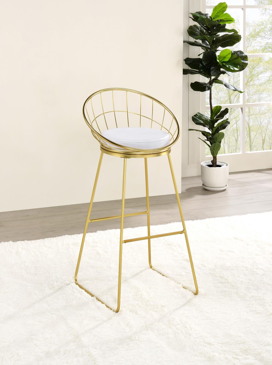 Bar Stool (Matte Brass)