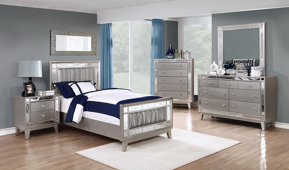 Leighton Contemporary Metallic Twin Five Piece Set