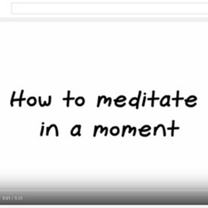 "One-Moment Meditation [video] ""How to Meditate in a Moment"""