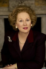 Meryl Street as Margaret Thatcher