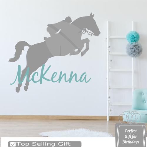 Personalized name with horse