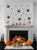 18 Crawling Spiders Halloween Party Decor