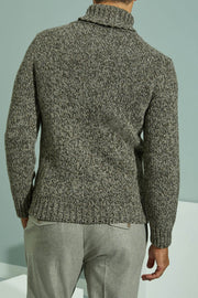 Zanone Anthracite grey merino wool turtleneck