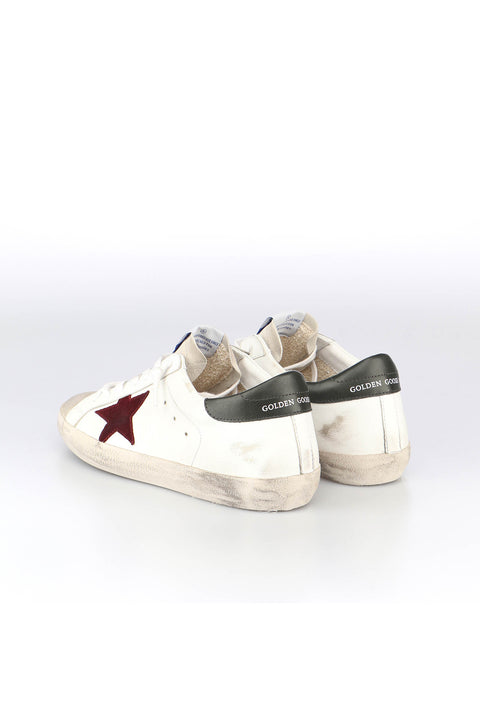 Golden Goose Super-Star Leather Upper And Heel Suede Toe