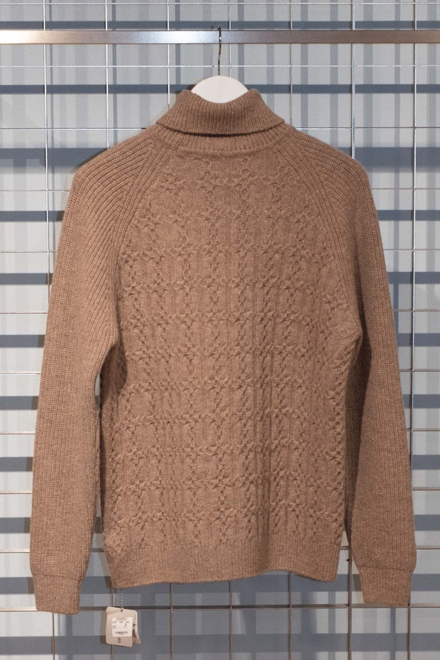 Lambswool New Cable Turtleneck