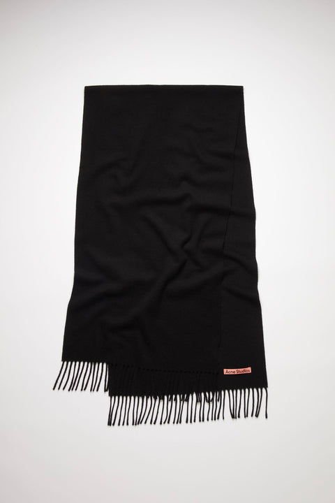 Narrow Wool Scarf Black