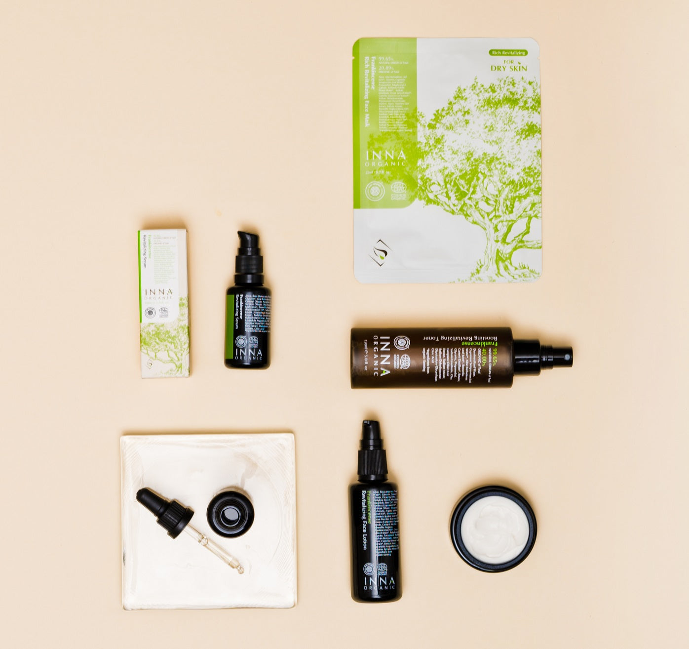 Inna Organic organic EWG-verified and COSMOS certified Asian sheet masks and skincare available at Nourish Clean Beauty