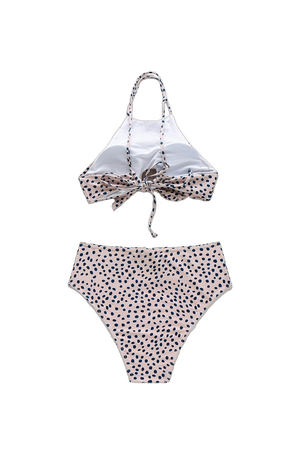 Dot Design Highneck Bikini