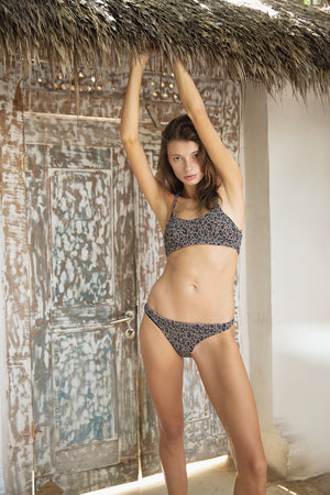 Leopard Gather Back Design Bikini
