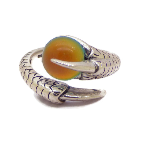 14mm 24K Gold Plated Brass Wire Crown Bezel Mood Ring